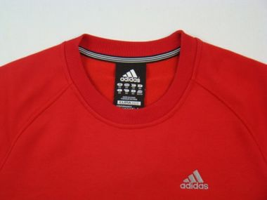 Adidas Performance Essentials Crew Sweatshirt Pullover rot – Bild 2