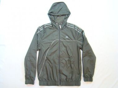 Adidas Chrome Windbreaker Jacke olive/grau
