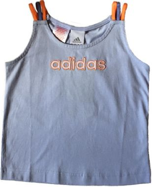 Adidas LG Tank Top T-Shirt Kindertshirt flieder/orange
