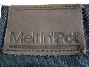 Meltin`Pot Mika Tight Cut Jeans dark denim Damenjeans Designerjeans – Bild 4