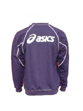 Asics Team Sweat Logo Sweatshirt blau – Bild 2