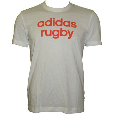 Adidas Category Tee Rugby Herren Shirt weiß/rot – Bild 1