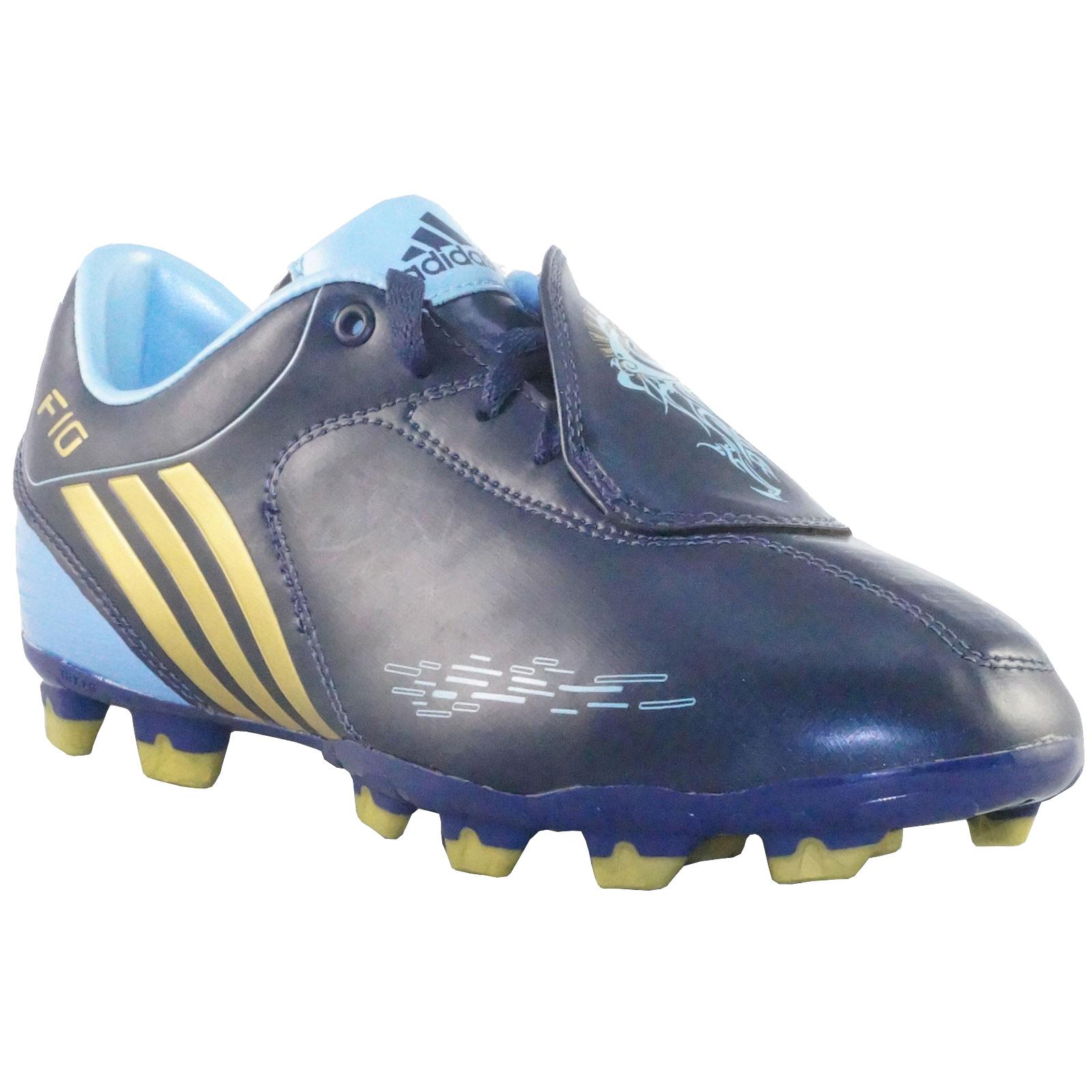 best service 2b310 008c9 Adidas F10 I TRX FG J G02221 Soccer shoes blue gold