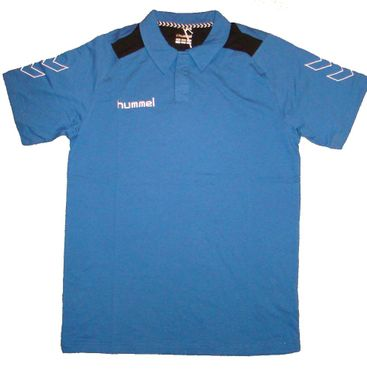 Hummel Roots Polo Poloshirt T-Shirt blau