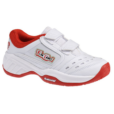 Babolat Drive 2 Klett All Court Junior Tennisschuhe weiß/rot – Bild 1
