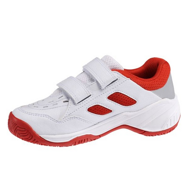 Babolat Drive 2 Klett All Court Junior Tennisschuhe weiß/rot – Bild 2