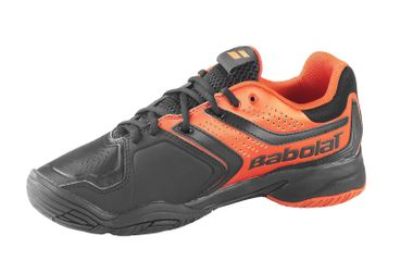 BABOLAT DRIVE 3 JR ALL COURT Tennisschuhe schwarz/orange – Bild 2