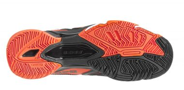 BABOLAT DRIVE 3 JR ALL COURT Tennisschuhe schwarz/orange – Bild 3