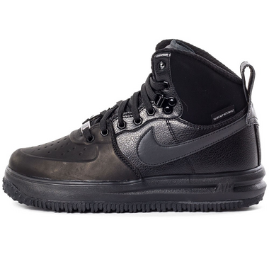 Nike Air Lunar Force 1 Sneakerboot GS Watershield Winter Sneaker schwarz – Bild 1