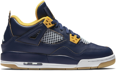 Nike Air Jordan 4 Retro BG LTD Dunk from Above Basketballschuhe Sneaker blau/gold/weiß