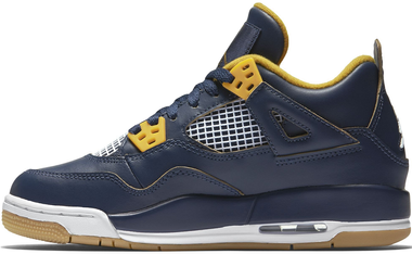 Nike Air Jordan 4 Retro BG LTD Dunk from Above Basketballschuhe Sneaker blau/gold/weiß – Bild 2