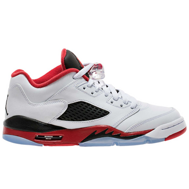 Nike Air Jordan 5 Retro Low LTD Fire Red 2016 Basketballschuh Sneaker weiß/schwarz/rot – Bild 1