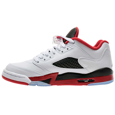 Nike Air Jordan 5 Retro Low LTD Fire Red 2016 Basketballschuh Sneaker weiß/schwarz/rot – Bild 2