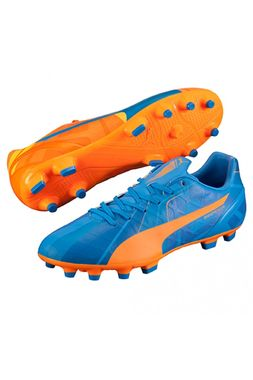 "Puma Evospeed 4 H2H FG ""Head To Head"" Fussballschuhe Tricks Graphic Kollektion orange/blau – Bild 4"