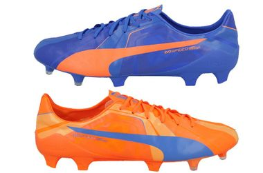 Puma Evospeed SL Superlight Head To Head FG Fussballschuhe orange/blau – Bild 1