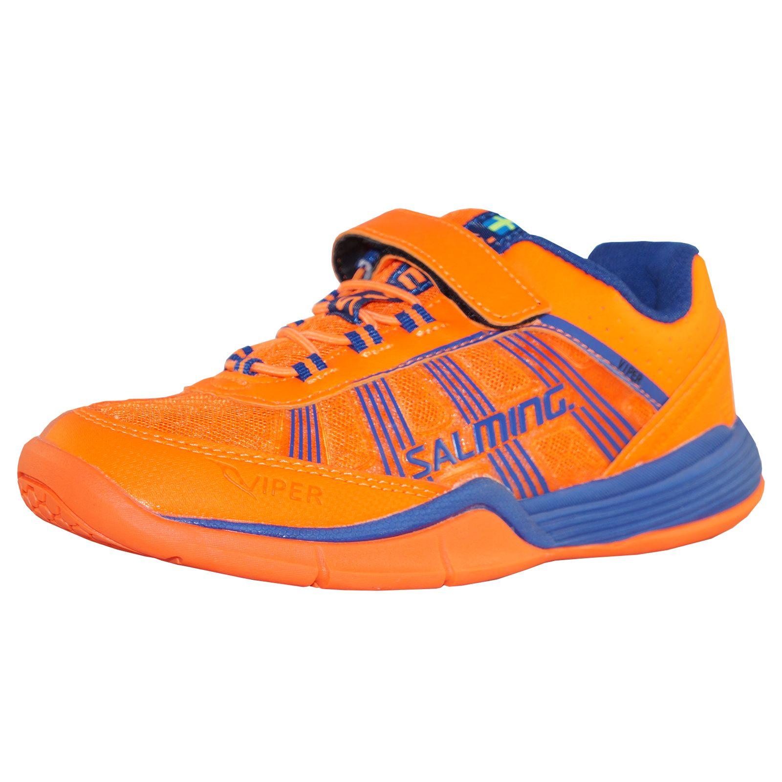 brand new 625e8 ce517 Salming Viper Kids Indoor Handballschuhe Hallenschuhe Kinderschuhe  orange/blau