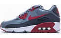 Nike Air Max 90 Leather (GS) Sneaker Aktuelle Kollektion 2017 grau/rot/weiss 001