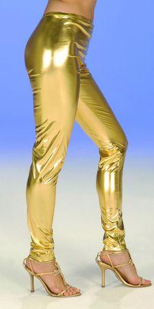 Kostüm Leggins gold oder silber Glanzleggins Gr.36 40 44 super Karneval Fasching – Bild 2