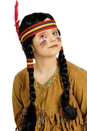 Indianerperücke Mädchen mit Stirnband Perücke Squaw Indianerin Karneval Fasching – Bild 1