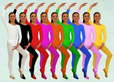 Nylon Body Kinder Langarm viele Farben 2 Größen Karneval Fasching