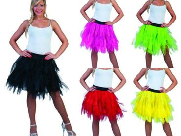 Kostüm Petticoat Tüllrock Tüll Rock Tutu Tütü Halloween Motto Karneval Fasching – Bild 1