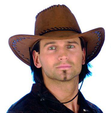 brauner Hut Westernhut Cowboyhut Herren Outback Western Cowboy Karneval Fasching – Bild 2
