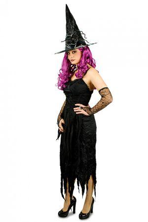 Kostüm Hexe schwarzes Kleid Piratin schwarzer Engel Gothic Gr. 36-46 Fasching – Bild 2