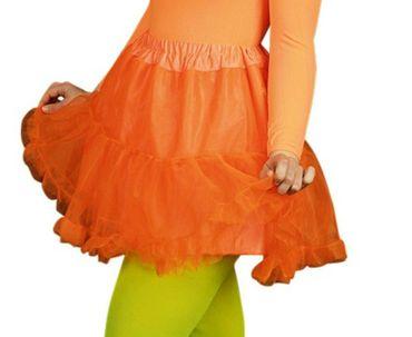 Kostüm Tüllrock in neon pink orange grün Gr.34-46 Petticoat Unterrock Karneval – Bild 3