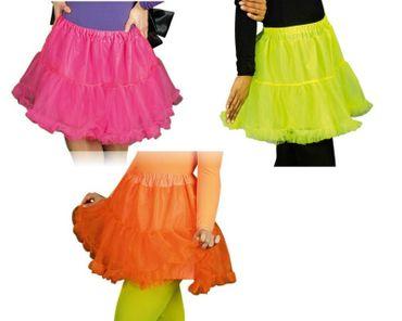 Kostüm Tüllrock in neon pink orange grün Gr.34-46 Petticoat Unterrock Karneval – Bild 1