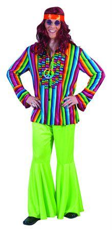 Kostüm Hippie Hemd Herren Festival Reggae buntes Rüschenhemd Party Karneval – Bild 1