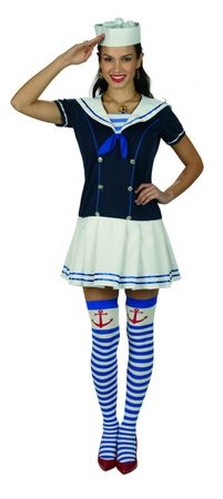Kostüm Matrosin Sailor Girl Marine Kleid Matrosenkleid NEU – Bild 1