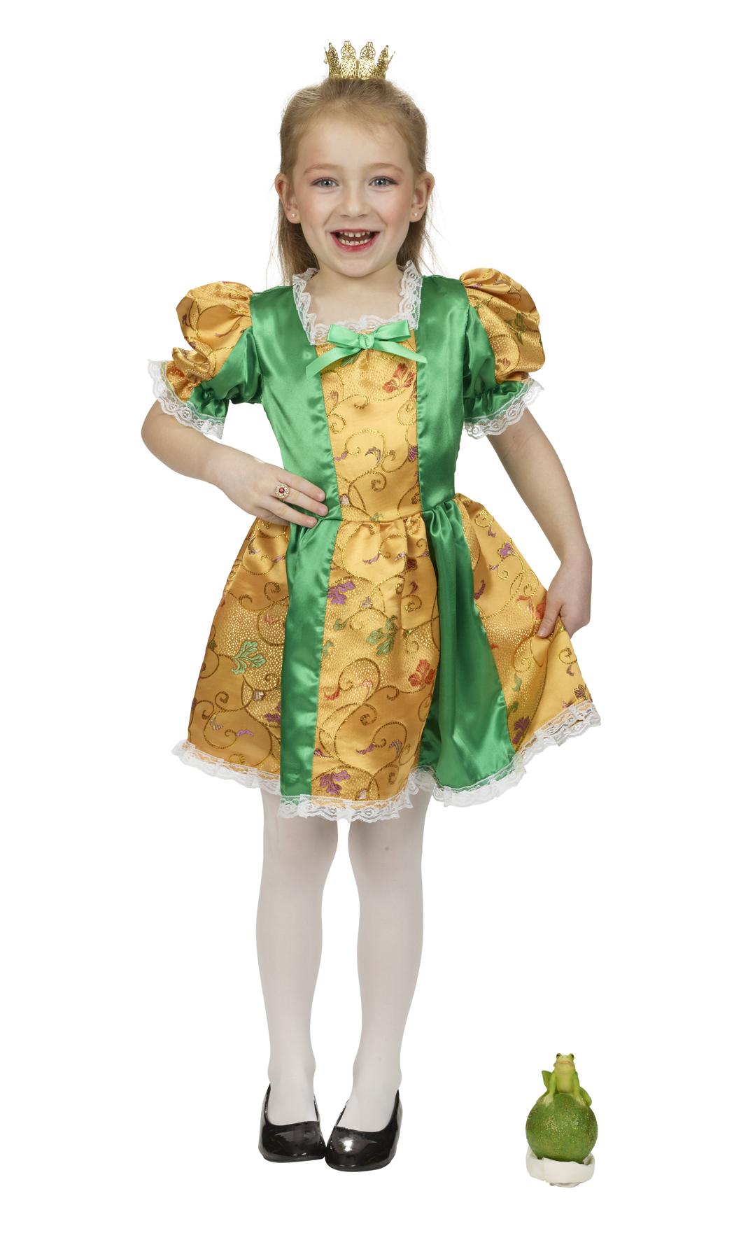 verschiedene Arten von begrenzte garantie noch nicht vulgär Kinder Kostüm Froschkönigin Mädchen Elfe Fee Märchen Gr. 152 Karneval