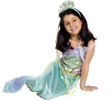 Kostüm Meerjungfrau Nixe Nixenkostüm Mädchen Meermaid Mädchen Fasching Karneval – Bild 1