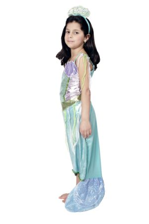 Kostüm Meerjungfrau Nixe Nixenkostüm Mädchen Meermaid Mädchen Fasching Karneval – Bild 2