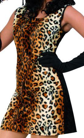 Kostüm Cat Katze Kleid Leopardenmuster Leokleid Gangsterlady Karneval Fasching – Bild 3