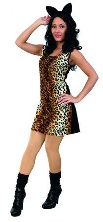Kostüm Cat Katze Cowgirl Leokleid Kleid Leomuster Gangsterlady Karneval Fasching – Bild 2