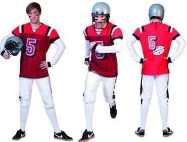 Kostüm American Football Footballspieler 2tlg. Gr.48-58 Footballkostüm Karneval
