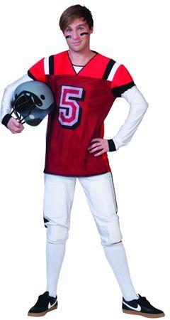 Kostüm American Football Footballspieler Sportkostüm Quarterback Rugby Karneval  – Bild 2