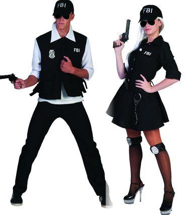 Kostüm FBI Agent Agentin Komplettkostüm mit Kappe Polizist Karneval Fasching – Bild 1