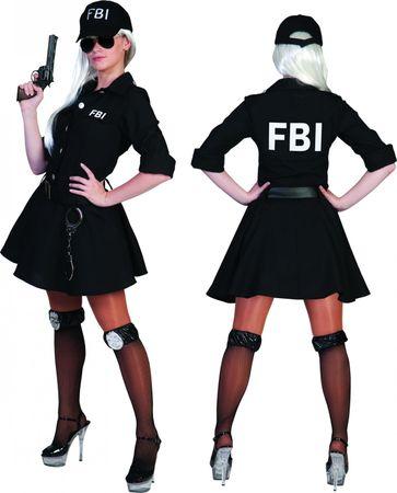 Kostüm FBI Agent Agentin Komplettkostüm mit Kappe Polizist Karneval Fasching – Bild 2