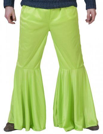 Kostüm grüne Schlaghose Hippie Hose 60er Flower Power Gr.48/50 Schlager Karneval – Bild 1