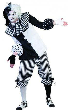 Kostüm Pierrot Harlekin Clown Pantomime Damen Herren Fasching Karneval – Bild 3