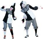 Kostüm Pierrot Harlekin Clown Pantomime Damen Herren Fasching Karneval