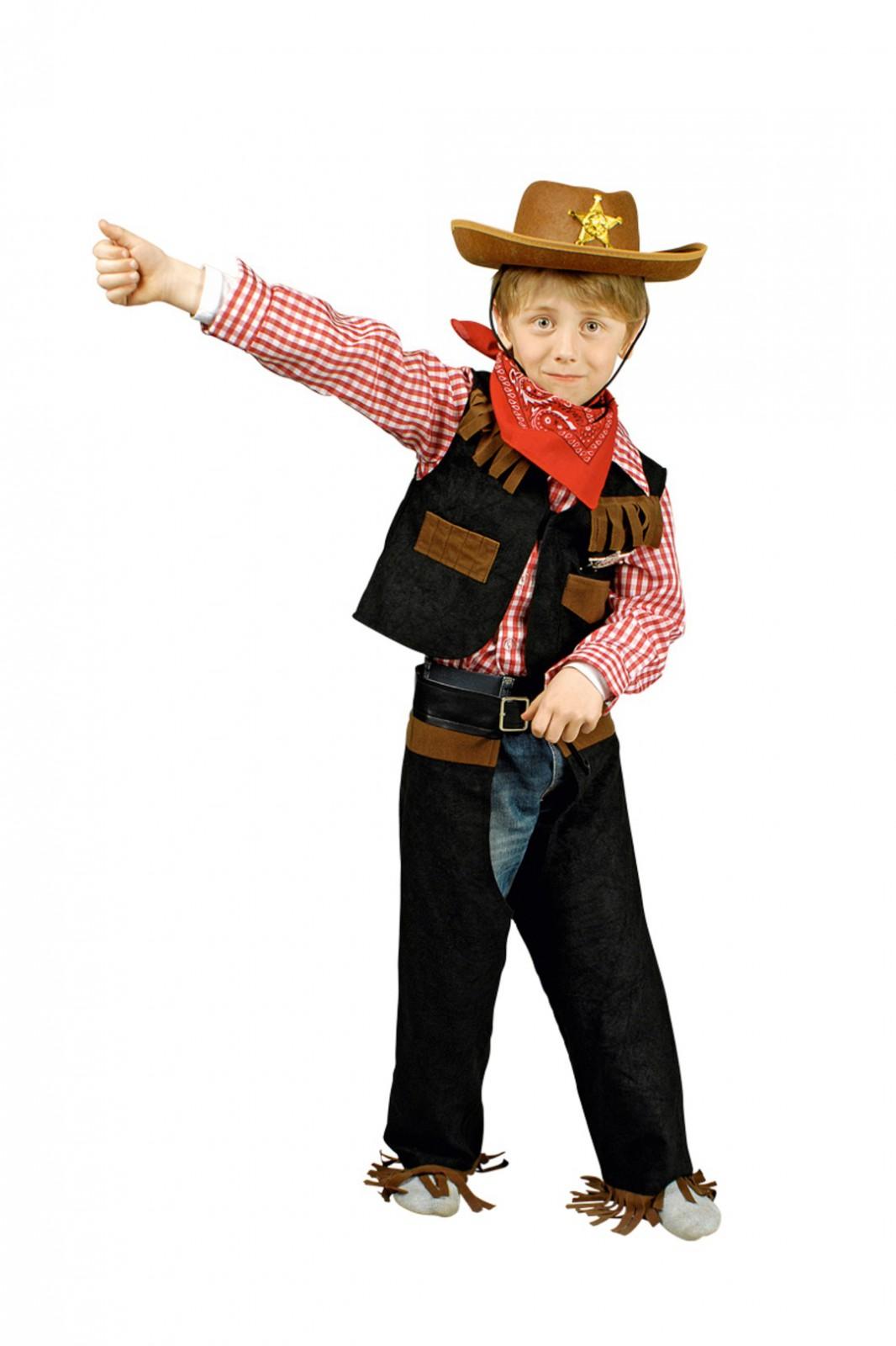 Kinder Cowboykostum Kostum Cowboy Hemd Weste Chaps Gr 98 164