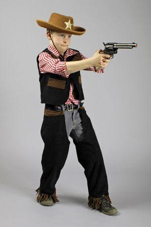 Kinder Cowboykostüm Kostüm Cowboy Hemd Weste Chaps Gr.98-164 Karneval Fasching – Bild 3