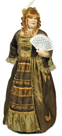 Kostüm Lady Anne Barock Rokoko Maskenball Barockkleid m Reifrock Fasching – Bild 5