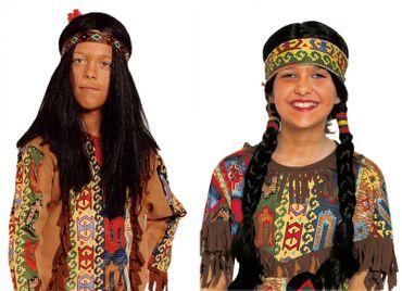 Indianerperücke Junge Mädchen Perücke Indianer Indianerin Karneval Fasching – Bild 1