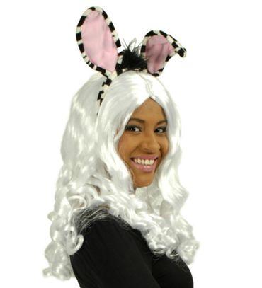 Kostüm Accessoires Zebra Set Haarreif Schwanz Tier Tierkostüm Zoo Karneval – Bild 3