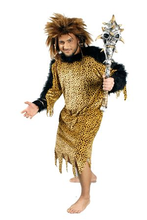 Kostüm Neandertaler Höhlenmensch Steinzeitmensch Urzeit Gr. L Karneval Fasching – Bild 2