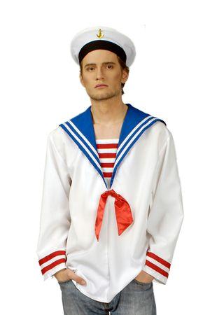 Kostüm Matrosenhemd Schiffsjunge Seefahrer Marine Gr.46-56 Karneval Fasching – Bild 1